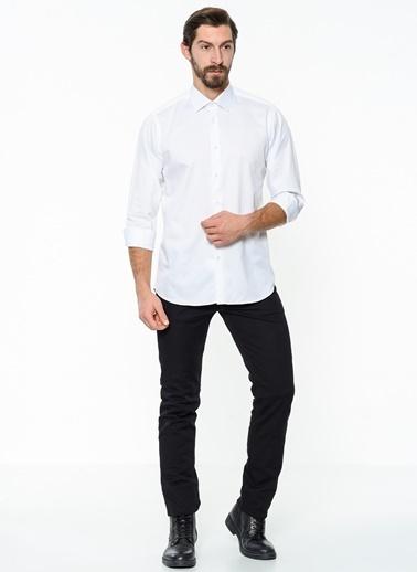 Daffari Uzun Kollu Gömlek Beyaz